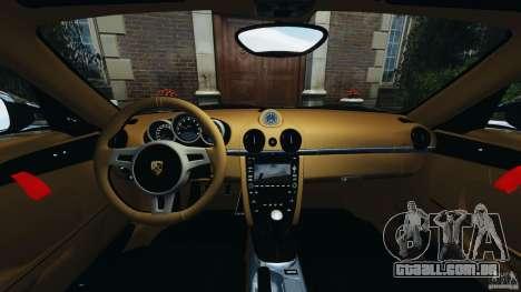 Porsche Cayman R 2012 [RIV] para GTA 4 vista de volta