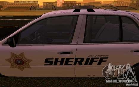 Ford Crown Victoria Police para GTA San Andreas vista interior