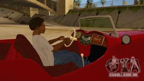 MG Augest para GTA San Andreas vista interior