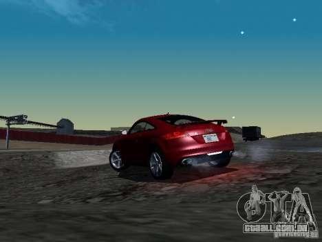Audi TT-RS Coupe 2011 v.2.0 para GTA San Andreas traseira esquerda vista
