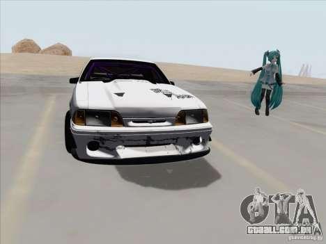 Ford Mustang Drift para GTA San Andreas vista traseira