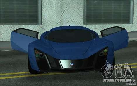 Marussia B2 2010 para GTA San Andreas vista interior
