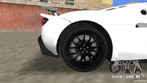 Hennessey Venom GT Spyder para GTA Vice City vista direita
