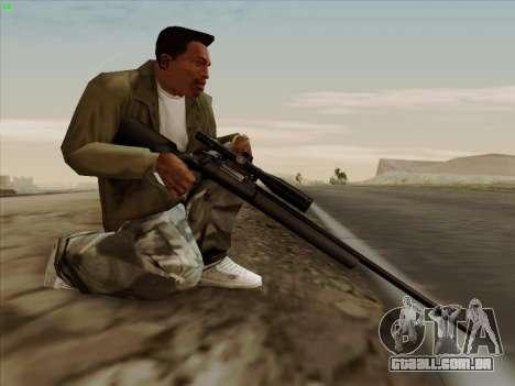 Remington 700 para GTA San Andreas por diante tela