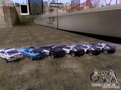 Ford Mustang GT 2011 Police Enforcement para GTA San Andreas interior