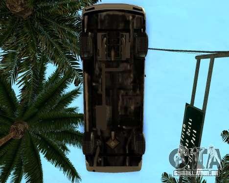 Khord ThunderWing para GTA San Andreas traseira esquerda vista