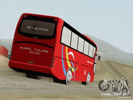 Neoplan Tourliner. Rural Tours 1502 para GTA San Andreas traseira esquerda vista
