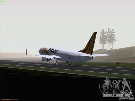 Boeing 737-800 Tiger Airways para GTA San Andreas vista interior