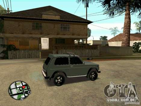 21213 LADA Niva para GTA San Andreas traseira esquerda vista