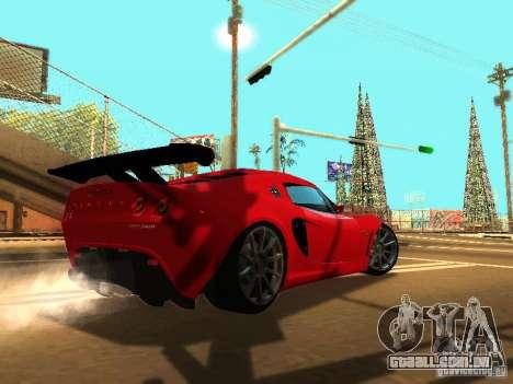 Lotus Exige 240R para GTA San Andreas vista inferior