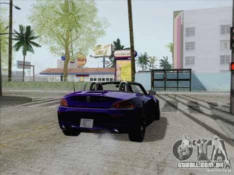 BMW Z4 2011 para GTA San Andreas esquerda vista