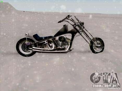 Harley para GTA San Andreas vista interior