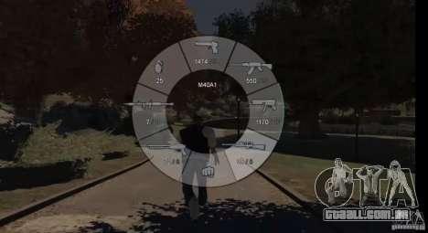 GTA 5 Weapon Wheel HUD para GTA 4