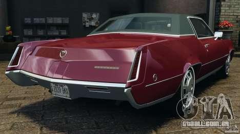 Cadillac Eldorado 1968 para GTA 4 traseira esquerda vista