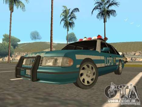 HD Police from GTA 3 para GTA San Andreas esquerda vista