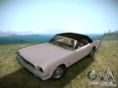 Ford Mustang Convertible 1964 para GTA San Andreas vista traseira