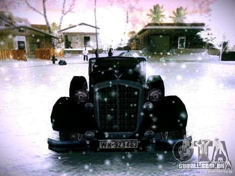 Carros por trás do jogo de linhas inimigas 2 para GTA San Andreas vista traseira