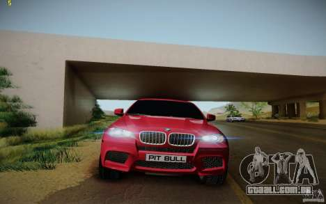 BMW X6 v1.1 para GTA San Andreas vista interior