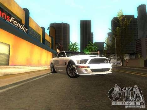 Ford Shelby GT 2008 para GTA San Andreas vista traseira