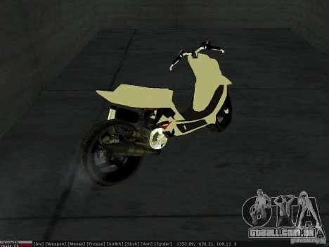 Yamaha Aerox para GTA San Andreas vista superior