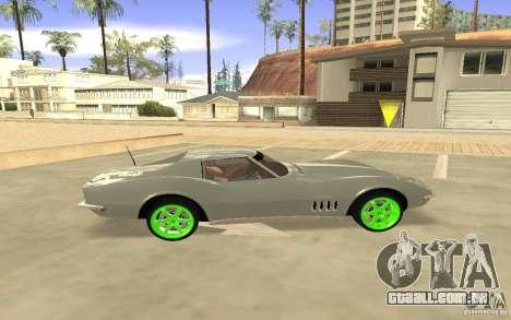 Chevrolet Corvette Stingray Monster Energy para GTA San Andreas vista direita