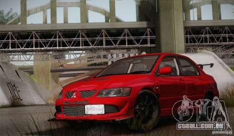 Mitsubishi Lancer Evolution VIII MR Edition para vista lateral GTA San Andreas