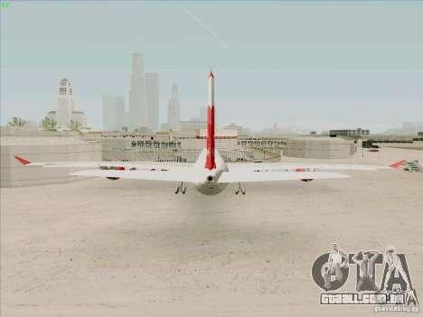 Airbus A-340-600 Plummet para GTA San Andreas traseira esquerda vista