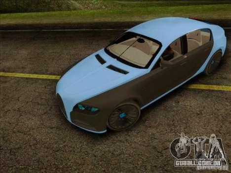 Bugatti Galibier 16c para GTA San Andreas traseira esquerda vista