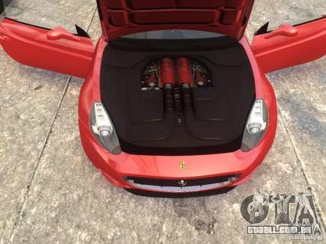 Ferrari California 2009 para GTA 4 vista direita