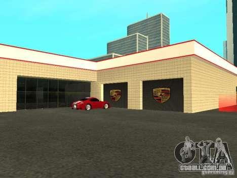 Salão do automóvel de Porsche para GTA San Andreas quinto tela