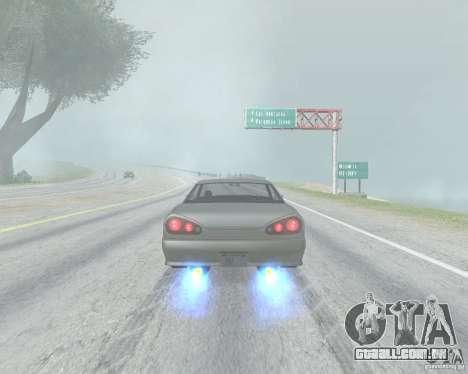 O Borrão quando usando Nitro para GTA San Andreas terceira tela