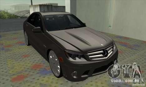 Mercedes-Benz C63 Dub para GTA San Andreas esquerda vista