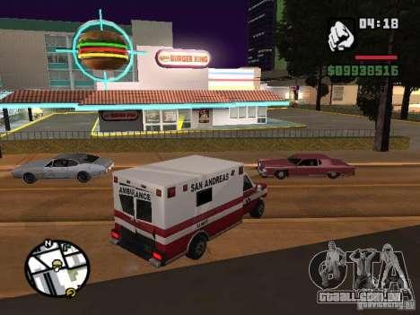 Novos restaurantes de texturas para GTA San Andreas quinto tela