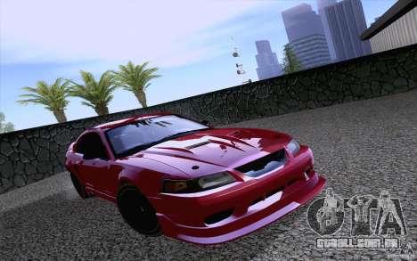 Ford Mustang SVT Cobra 2003 Black wheels para GTA San Andreas esquerda vista