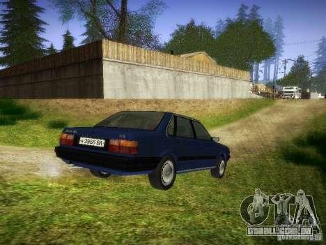 Audi 80 1987 V1.0 para GTA San Andreas traseira esquerda vista