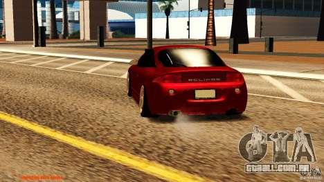 Mitsubishi Eclipse 1998 para GTA San Andreas traseira esquerda vista
