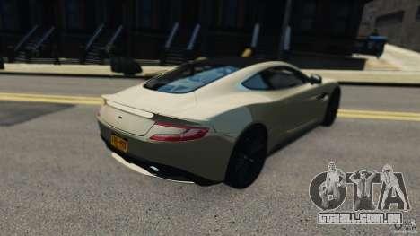 Aston Martin Vanquish 2013 para GTA 4 traseira esquerda vista