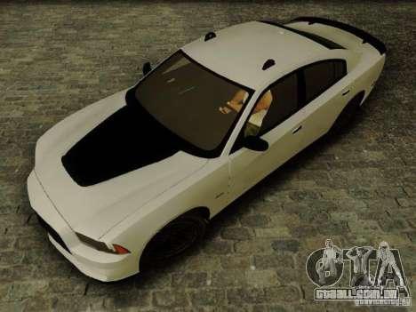 Dodge Charger SRT8 2012 para GTA San Andreas traseira esquerda vista