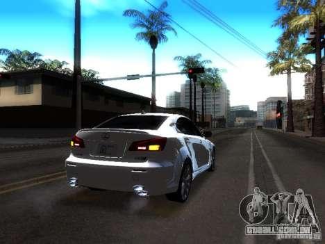 Lexus IS F para GTA San Andreas vista interior