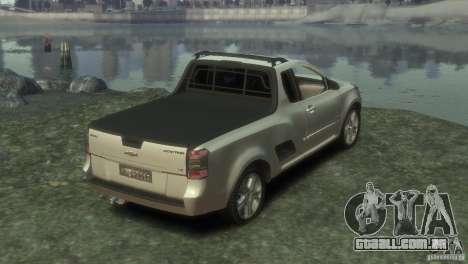 Chevrolet Montana Sport 2011 para GTA 4 traseira esquerda vista
