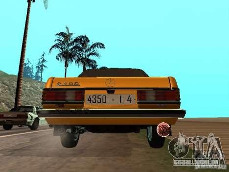Mercedes-Benz 240D Taxi para GTA San Andreas vista direita