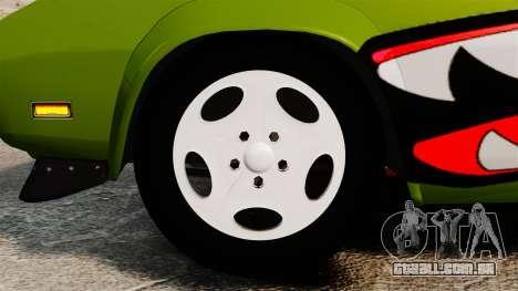 Dodge Charger RT SharkWide para GTA 4 vista de volta