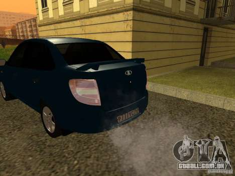 VAZ 2190 para GTA San Andreas traseira esquerda vista