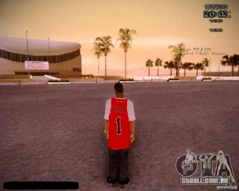 Pele Chicago Bulls para GTA San Andreas terceira tela