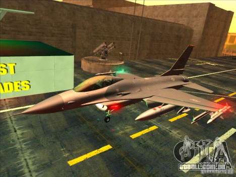 F-16C Fighting Falcon para GTA San Andreas esquerda vista