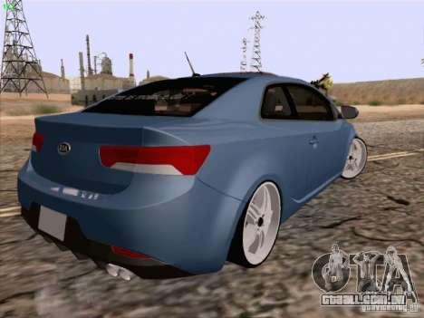 Kia Cerato Coupe 2011 para GTA San Andreas esquerda vista
