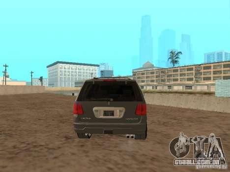 Lincoln Navigator 2004 para GTA San Andreas traseira esquerda vista