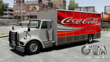 O novo anúncio para o caminhão de Benson para GTA 4 quinto tela