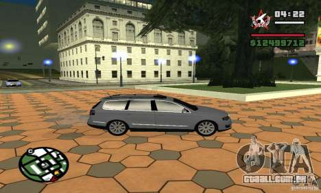 Volkswagen Passat B6 Variant para GTA San Andreas traseira esquerda vista