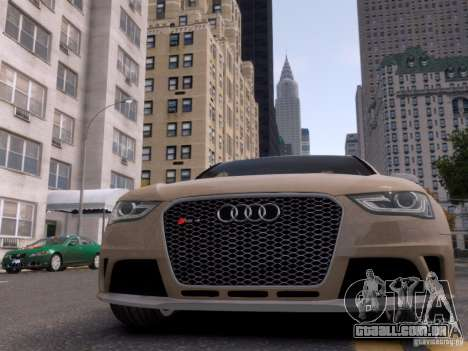 Audi RS4 Avant 2013 para GTA 4 vista superior